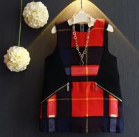 girls boutique clothes - Fashion Baby Girls Geometric Vest Dresses Autumn Kids Sleeveless Dresses Children Boutique Clothing T Years Korean little girls clothes