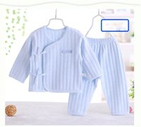 baby thermal shirt - Baby thermal underwear Shurong fabrics spring and neonatal clothes men and women baby long sleeved monk suit