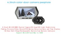 Wholesale 4 inch mirilla digital video door peephole camera support nightvision motion detection viewer eye video record
