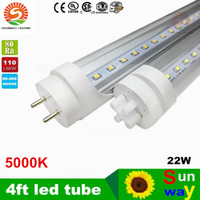 Wholesale 22W Daylight K T8 FT m Led Tubes Light Lumens SMD Led Fluorescent Lamp AC V CE UL