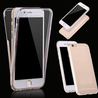 Wholesale 360 Full Body Shockproof Front Back Clear Transparent TPU Gel Case Cover for iPhone S Plus S E G S iPhone7 IP6C142
