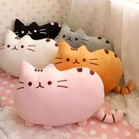 Wholesale cute cat pillow stuffed animal big cat plush toy anime cat cartoon soft PP cotton best gift for girl fiend
