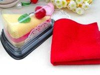 assorted towels - 20 cm Unique Cotton Towel Cute Creative Cakes Folded Face Hand Towels Assorted Designs color WA0071