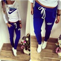 Wholesale 2016 fashion sportswear spring letter Women Tracksuit Hoodies Sweatshirt Pant Running Sport Track suit Piece sets