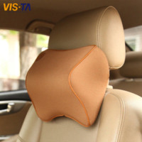 Wholesale 1 Car Pillow Summer Space Memory Fabric Neck Headrest Car Covers Vehienlar Plaid Pillow Car Seat Cover Headrest Neck Pillow
