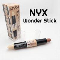 Wholesale 2016 NYX Wonder stick highlights and contours shade stick Light Medium Deep Universal