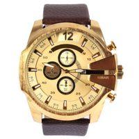 Cheap 2016 Top Brand Watch Luxury Men Watches DZ4280 Oversized Case Mutiple Dials Date Display Leather Strap Quartz Sports watch Wholesale