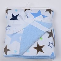 Wholesale Double layer polyester fleece baby blankets and blankets with animals newborn baby blanket swaddle winter