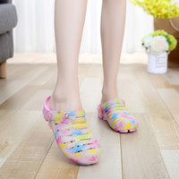 aa jellies - Summer Woman Jelly Baotou Sandy Beach Reverent Shoe Non slip Cool Slipper Printing Candy Color Latex