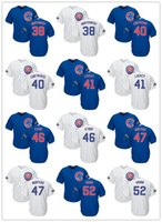 Wholesale 2016 Postseason Patch Chicago Cubs Jerseys Willson Contreras John Lackey Strop Rondon Cubs Jerseys Men s Stitched Logos