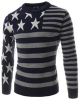 Wholesale New Fit Sweater Full Sleeve Casual Pullovers Stars Pattern Style Full Slleve Men Jerseys Hot Sale H7733