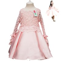 attend service - The spring and autumn Princess Dress embroidered Korean children skirt to attend a banquet or performance service