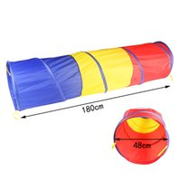 Wholesale 180 cm Children Crawl Crawling Tunnel Tube Children Play Educational Toys and the training of children crawl tube baby outdoor crawl th