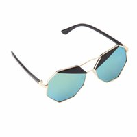 best hiking sunglasses - New Summer Fashion Women Sunglasses Polygon Color Film Big Frame Cool Best Seller