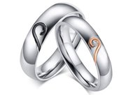 Middle Eastern anniversary lists - New products listed Stainless Steel rose heart classic Couple Rings lovers jewelry