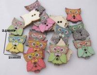 5 boutons animaux mixte 150pcs imprimés boutons en bois faits main pour les enfants vêtements 2 trous boutons de couture arrière plat M63691