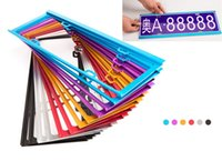 Wholesale 2 PC Magnesium Alloy License Plate Frame License Plate Frame Colors Options