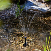Wholesale Hot Small Landscape Pool Garden Fountains V W Solar Power Fountain Water Pump Black
