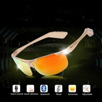 Wholesale Fashion bluetooth sunglasses touch control voice control smart music glasses bluetooth headset ultraviolet proof outdoor for men women