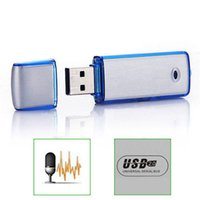 Wholesale Mini G USB Pen Disk Flash Drive Digital Audio Voice Recorder hours recording Black Blue
