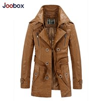 Wholesale Fall Joobox Brand Clothing jaqueta de couro masculina men leather jacket fur coat motorcycle leather PU jacket coat male black khaki