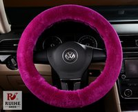 bargin prices - Bargin Price Plush car steering wheel covers keep your hands warm Pure cashmere wool breathable car Grips upscale wheel covers