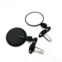 Wholesale 2016 Hot Adjustable mirrors mm HANDLE BAR END MIRRORS MOTORCYCLE MIRROR BLACK MOTORCYCLE END BAR MIRROR