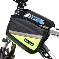 Wholesale 5 Inch Cycling Bike Front Frame Bag Tube Pannier Double Pouch for Cellphone Bicycle Accessories Riding Bag Bicycle Basket