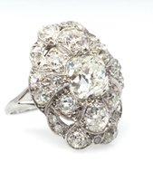 antique cushion cut diamond rings - Antique Diamond Ring ct Cushion Cut ct Old Cuts in Plat HM1513