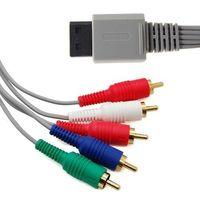 Wholesale HD Premium Component Video Audio AV Cable RCA Composite Cord For Nintendo Wii