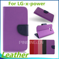 boost mobile phones - For LG X Power Volt K210 K6 K6P Boost Mobile G Stylo Plus ms550 Flip leather wallet stand mobile phone case