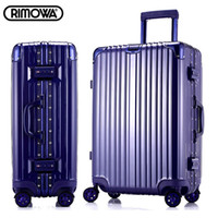 aluminum casters - 29 inch rimowa style aluminum frame angle drawbars hook up universal casters rolling carry on luggage trolley bags travel case suitcase