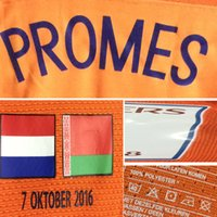 Wholesale 2016 Match Worn Holland Vs Belarus Netherland Promes SNEIJDER Janssen Match Details Oktober Player issue Custom Patch Badge