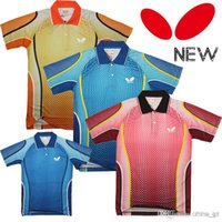 Wholesale Butterfly table tennis shirt Men shirt pingpong Sportswear Jersey table tennis t shirt