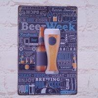 beer week - Retro Metal Tin Sign Beer Week Decor Pub Bar Restaurant Wall Art Poster