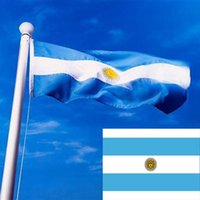 Wholesale 2015 New Arrival x150cm Polyester Argentina National Republic Banner Pennants With Metal Grommets Hot Sale