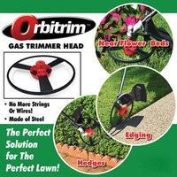 Wholesale New Orbitrim Gas Tarimmer Head Solid Steel Blades No More String Or Wires Trimmers Head For Outdoor Garden