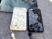 Wholesale 3D marble Phone Case silicone acrylic mirror cover case with lanyard for iphone S S plus