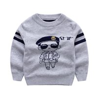 baby knitted cardigan pattern - Boy Sweater Cardigan Knitted Baby Cartoon Policeman Pattern Cardigan Spring Autumn Cotton Terry Children Clothes