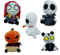 Wholesale 6 Inch Halloween Jack skeleton Pumpkin Plush Toys style cm children Anime Nightmare Before Christmas helloween stuffed toys