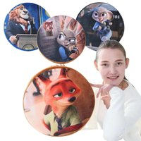 Wholesale Prettybaby Zootopia printing cotton pillows Judy Nick model removeable washable polyester bolster cushion styles bedding Pt0312