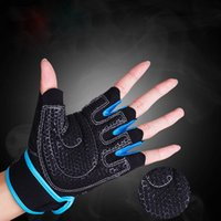 Wholesale Gym Body Building Training Fitness Gloves Instrument Half Finger Gloves Weight Lifting Workout Exercise Breathable Wrist Wrap