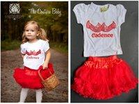 baby eagles - Baby Girls Tulle Flower Princess party Dress set Embordery Sequins bows t shirt red tutu Skirt set Eagle dress