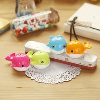 Wholesale cute novelty kawaii cartoon animal fish Whale candy color Pencil Sharpeners Cutter Knife Promotional Gift Stationery