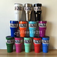 Wholesale 2016 Hot Sell Colored YETI Rambler Tumbler oz Travel Vehicle Beer Mug Double Wall Bilayer Vacuum Insulated Stainless