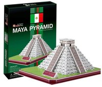 architecture series - Supernova Sales Birthday gifts educational puzzle toys D paper model World Architecture series Paper craft Maya Pyramid