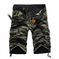 Wholesale Top Selling Summer Calf Length Cargo mens shorts Multi pocket Solid Men Beach Shorts Capris