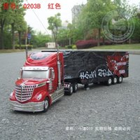 airplane trailers - 2015 Domineering Long US Truck wheel RC Truck channel Trailer Container Truck tractor grand and magnificent Toy Truck model