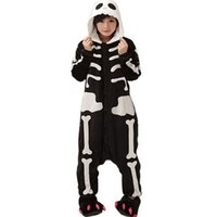 animal skeleton games - Skeleton Unisex Adults Casual Flannel Hooded Pajamas Cosplay Cartoon Cute Animal Onesies Sleepwear For Women Men