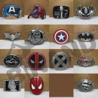 Wholesale Fedex DHL Free New Super Heroes superhero captain America batman superman Iron man Big Belt Buckle Buckles